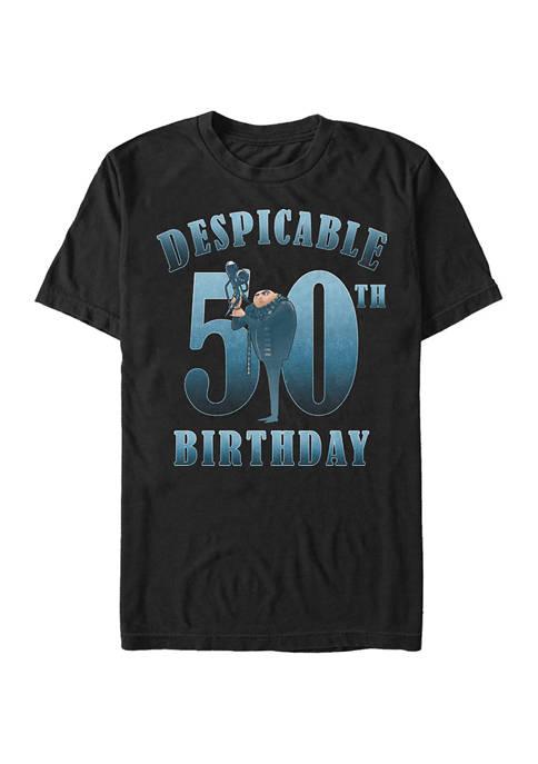 Minions Gru Birthday 50 Graphic Short Sleeve T-Shirt