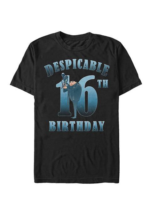 Minions Gru Birthday 16 Graphic Short Sleeve T-Shirt