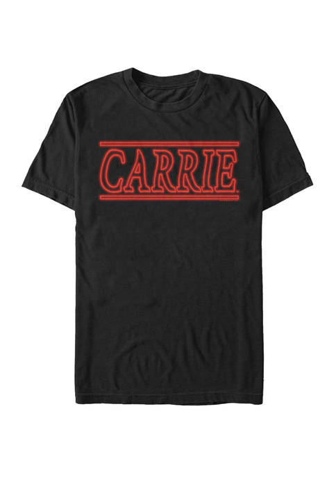 Carrie Big & Tall Classic Neon Title Logo