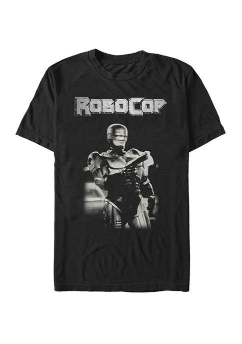 RoboCop Big & Tall Gray Scale Portrait Short
