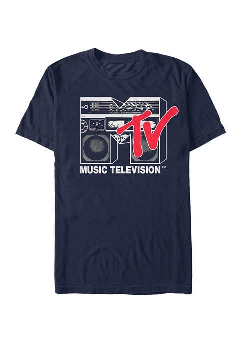 MTV Boom Box Logo Graphic Short Sleeve T-Shirt