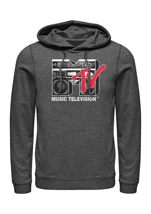 MTV Boom Box Logo Graphic Fleece Hoodie