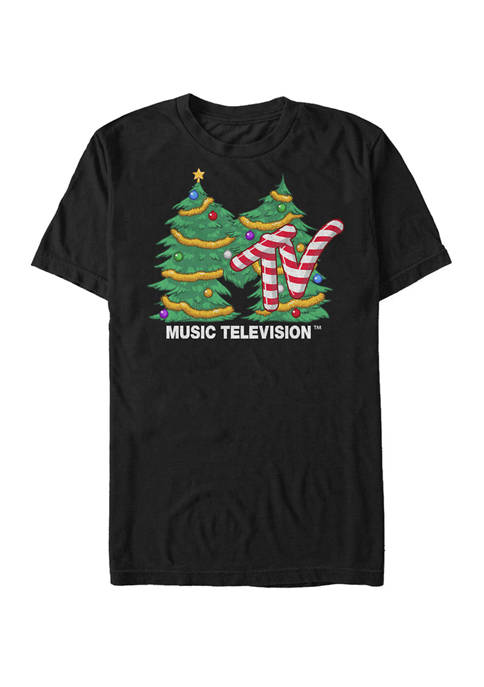 MTV Big & Tall Christmas Tree Logo Short