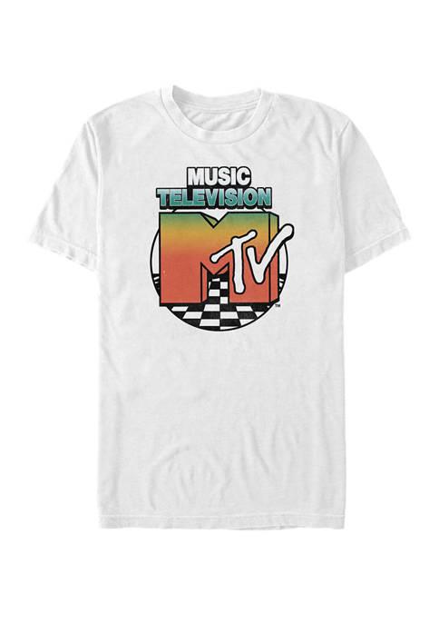 Logo Circle Color Fade Short-Sleeve T-Shirt