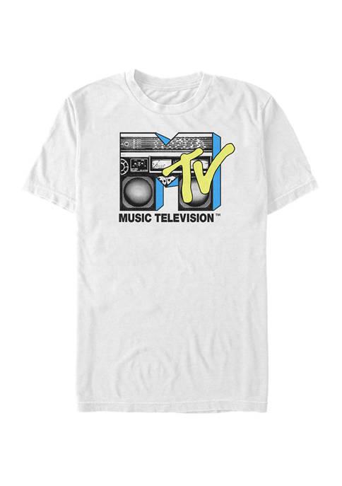 MTV Logo Black And Yellow Boombox Short-Sleeve T-Shirt