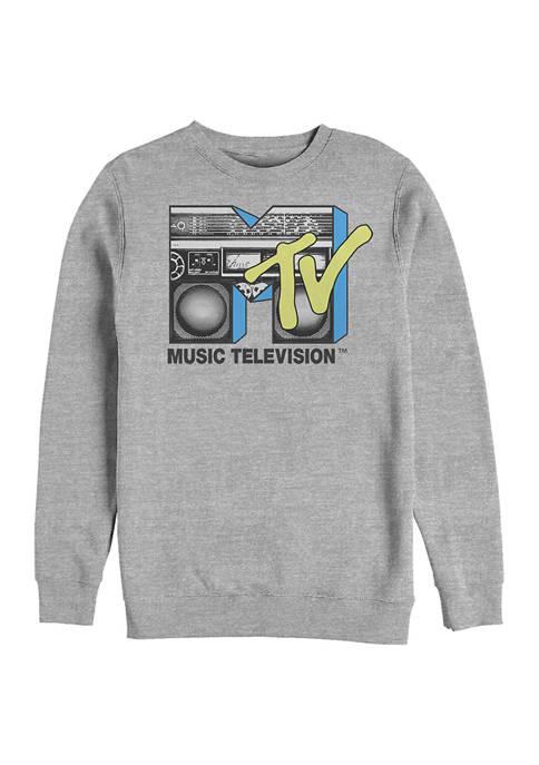 MTV Boombox Graphic Crew Fleece Sweatshirt