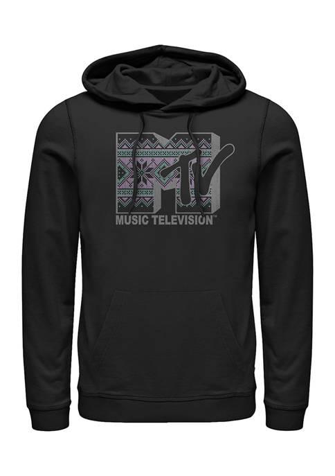 MTV Stitch Graphic Fleece Hoodie