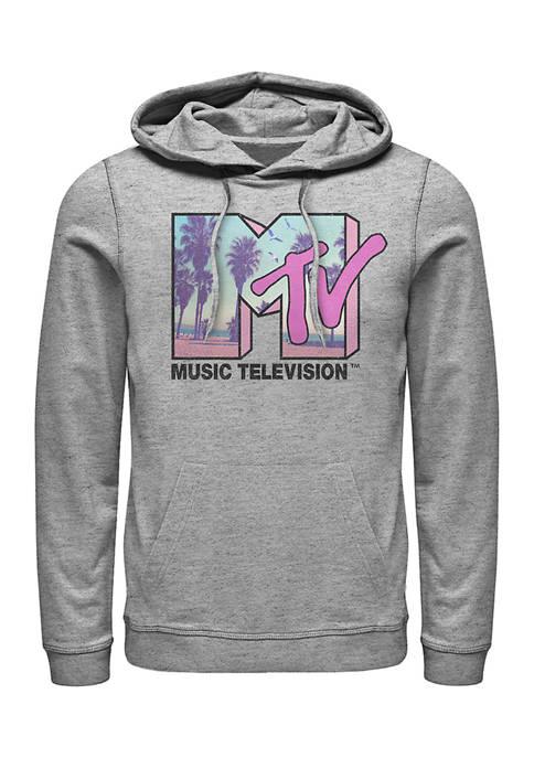MTV Beach Fill Graphic Fleece Hoodie