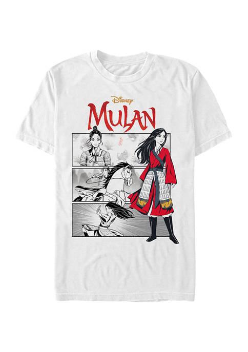 Mulan Comic Panels Short Sleeve T-Shirt