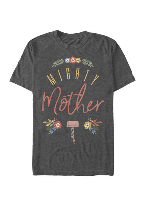 Marvel™ Seasonal Might Mother Floral Graphic Short Sleeve
