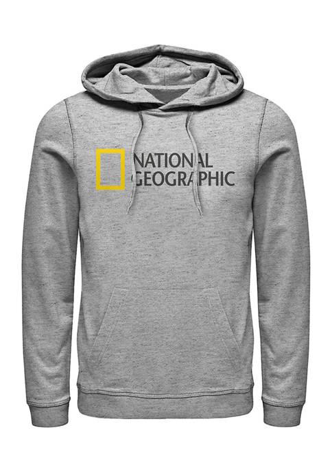 National Geographic Logo Graphic Fleece Hoodie