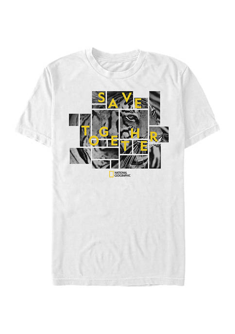 National Geographic Animal Collage Graphic Short Sleeve T-Shirt