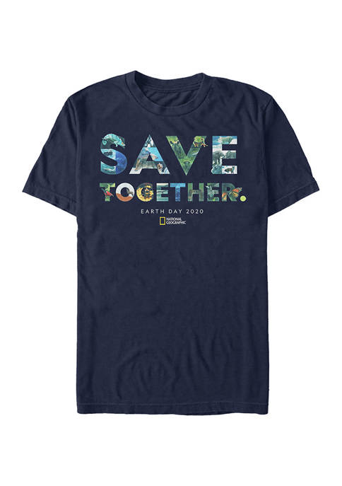 Save Collage Graphic Short Sleeve T-Shirt
