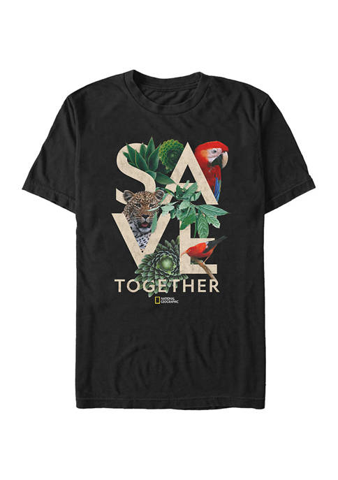 Save Stack Graphic Short Sleeve T-Shirt