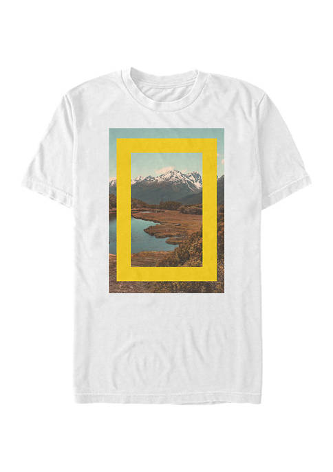 Lake Scene Graphic Short Sleeve T-Shirt
