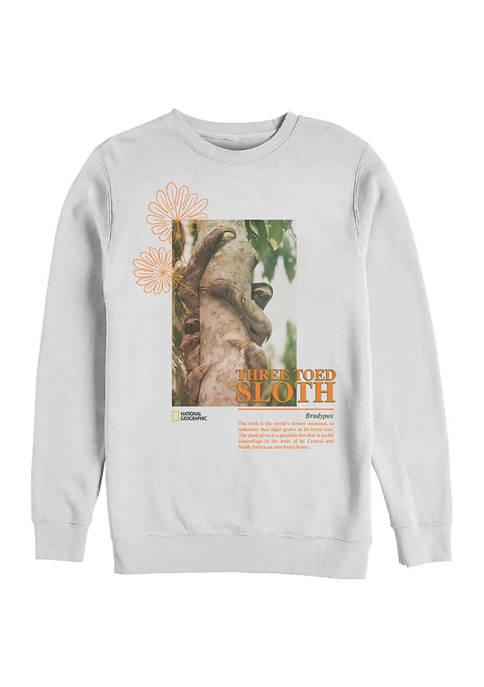National Geographic The Sloth Graphic Crew Fleece Sweatshirt