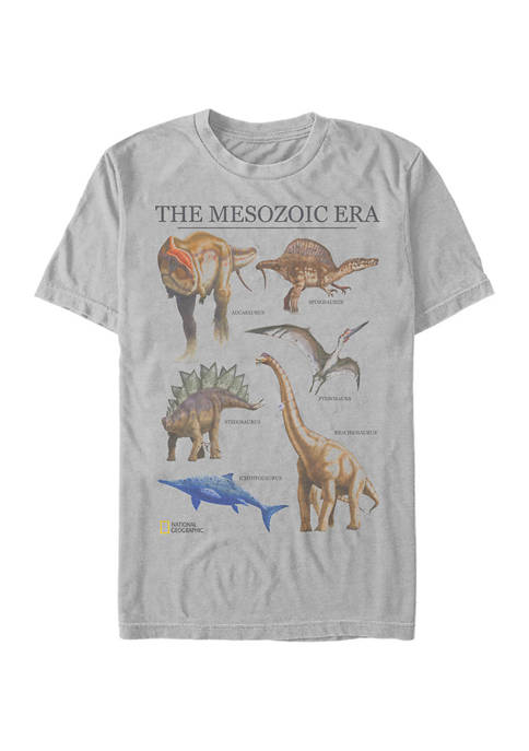 Chart of Dinos Graphic Short Sleeve T-Shirt