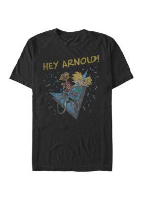 Nickelodeon Mens Hey Arnold Gerald Handlebars Retro Bike Ride Short Sleeve T-Shirt