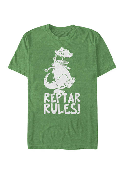 Nickelodeon™ Rugrats Reptar Rules Dinosaur Stomp Short-Sleeve
