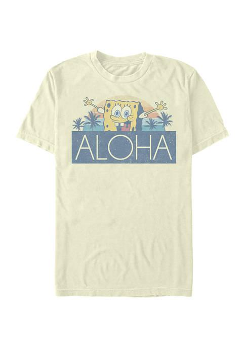 Spongebob Squarepants Aloha Short Sleeve T-Shirt