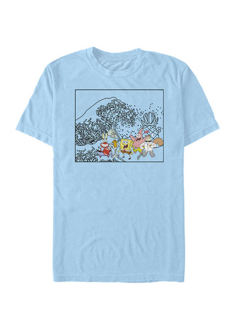 Nickelodeon™ SpongeBob SquarePants Japanese Wave Short-Sleeve T-Shirt