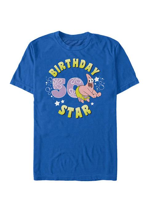 Nickelodeon™ Patrick Birthday Fifty Graphic Short Sleeve T-Shirt