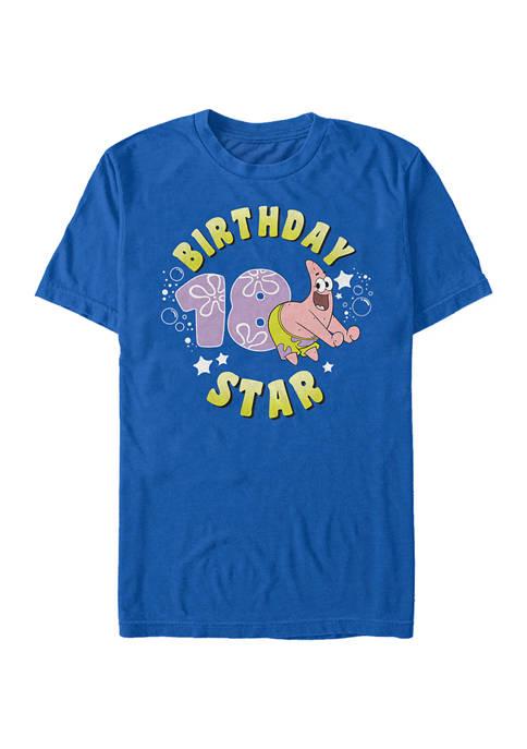 Nickelodeon™ Patrick Birthday Eighteen Graphic Short Sleeve