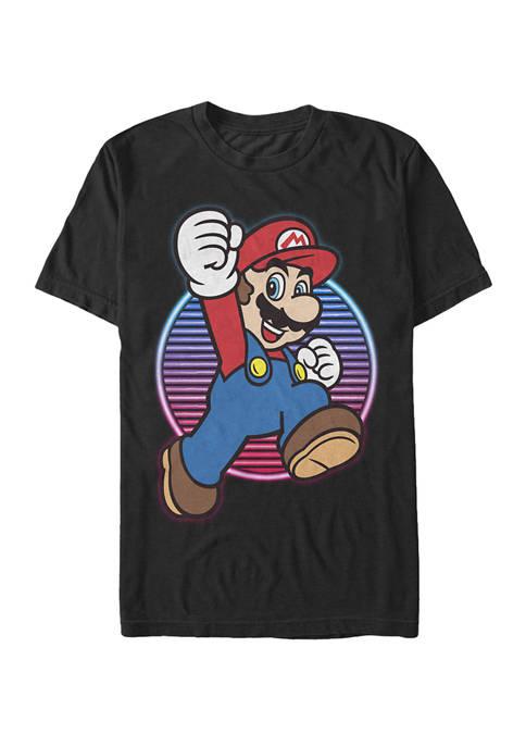 Big & Tall Super Mario Neon Gradient Jump Short Sleeve Graphic T-Shirt
