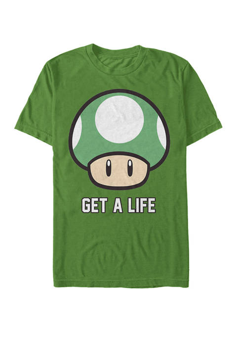 Super Mario Get A Life Shroom Short-Sleeve T-Shirt