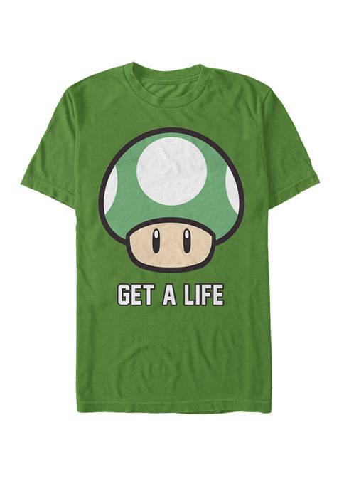 Nintendo Super Mario Get A Life Shroom Short-Sleeve