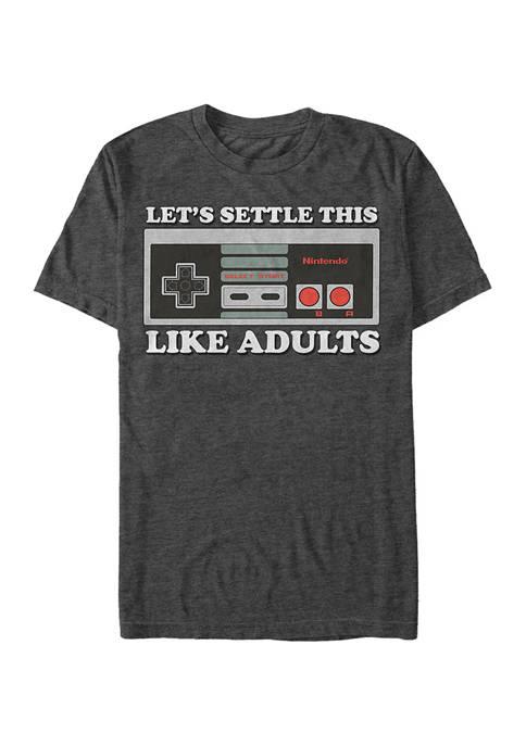 Big & Tall Nintendo® Like Adults Graphic Short Sleeve T-Shirt