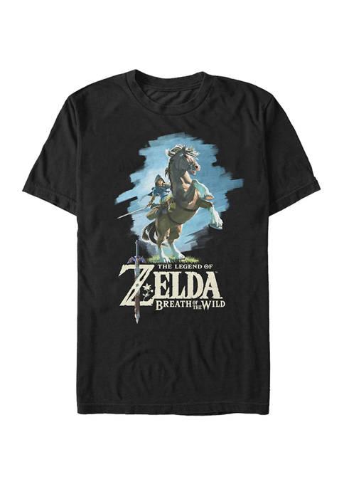 Big & Tall Zelda Breath of The Wild Link Short Sleeve Graphic T-Shirt