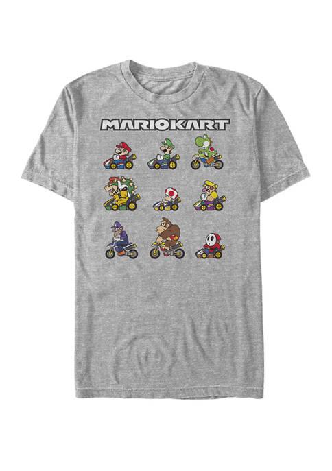 Nintendo Mario Kart Racers Ready Lineup Short-Sleeve T-Shirt