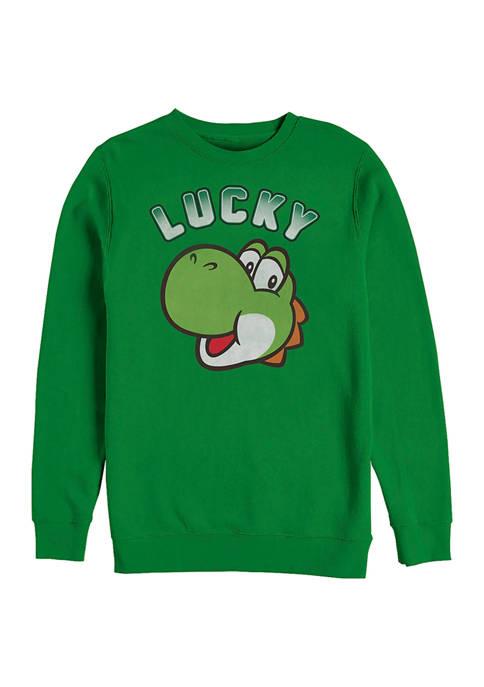 Nintendo Lucky Patty Graphic Crew Fleece Sweatshirt