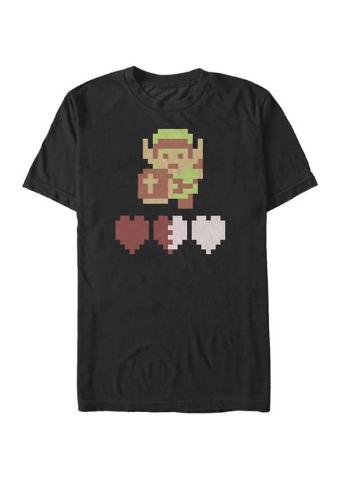 Big & Tall Zelda Link Lives Short Sleeve Graphic T-Shirt