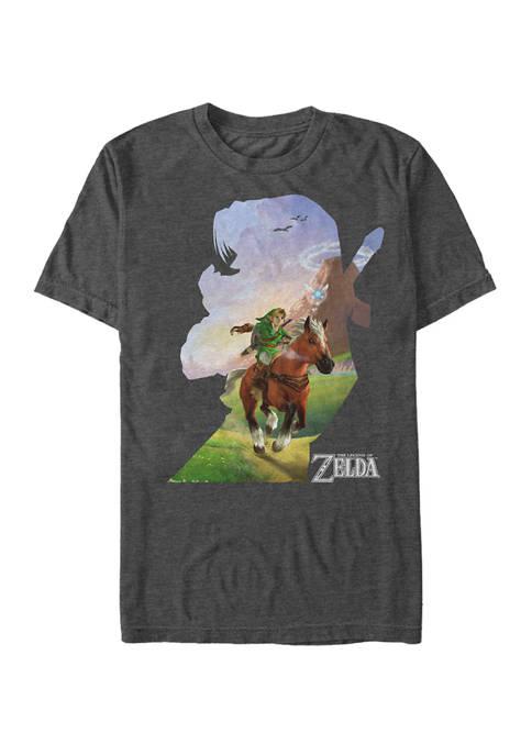 Big & Tall Zelda Link Epona Ride Silhouette Short Sleeve Graphic T-Shirt