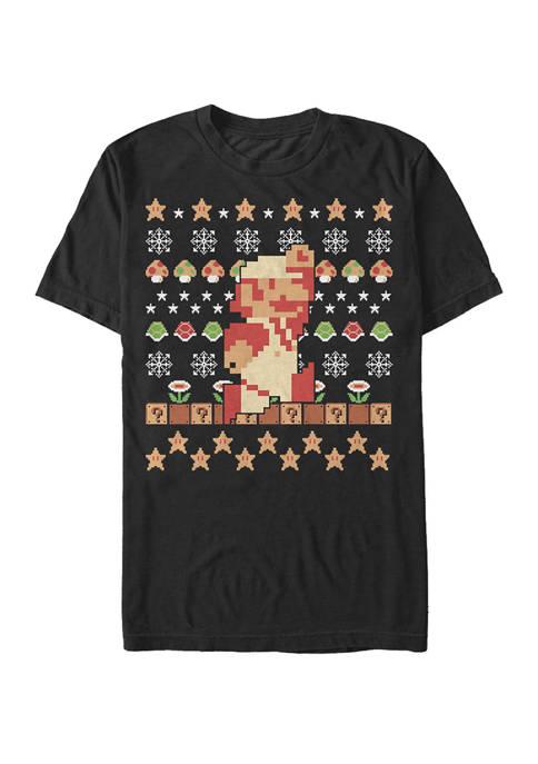 Nintendo Big & Tall Super Mario Sweater Print