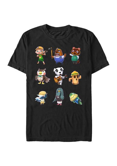 Big & Tall Nintendo® Town Folk Graphic Short Sleeve T-Shirt