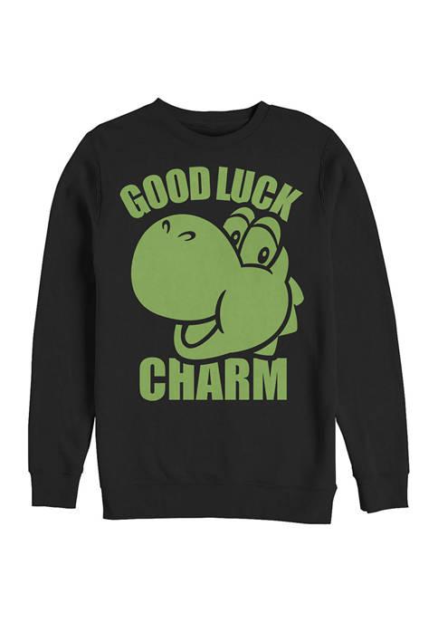Nintendo Charms Fillup Graphic Crew Fleece Sweatshirt