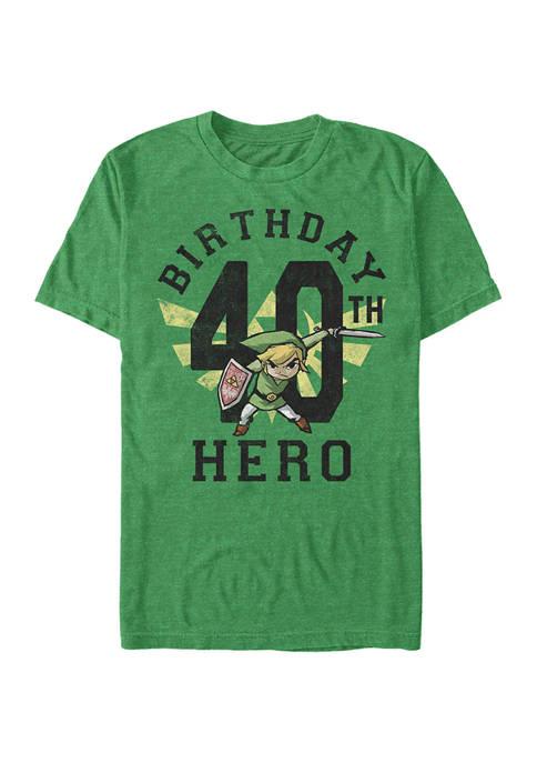 Nintendo Link Birthday 40 Graphic Short Sleeve T-Shirt