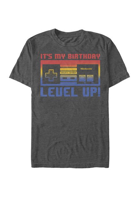 Nintendo Level Up Graphic Short Sleeve T-Shirt
