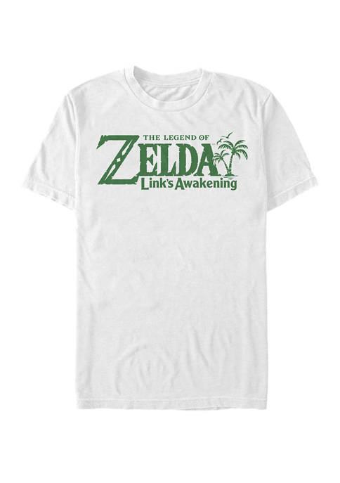 The Legend of Zelda Links Awakening Logo Short Sleeve T-Shirt