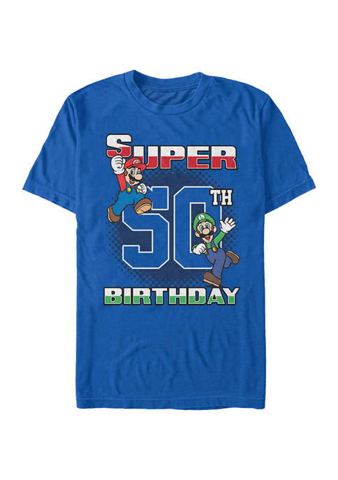 Super Bros 50th BDay Graphic Short Sleeve T-Shirt