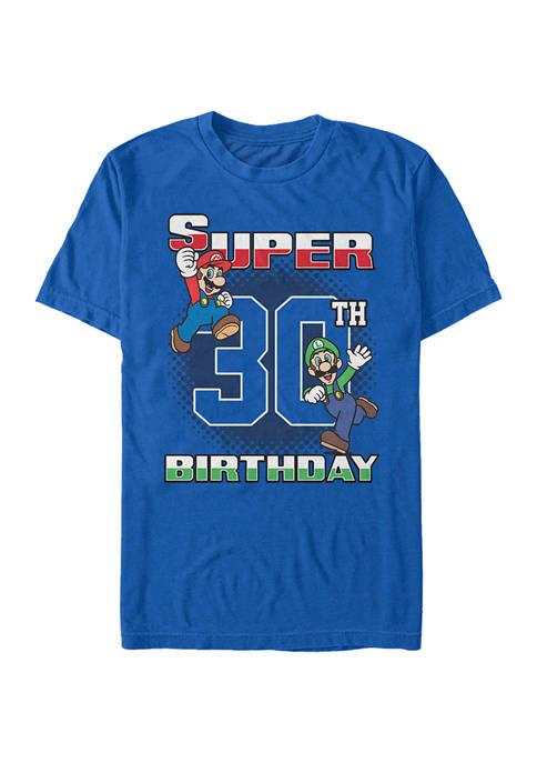 Nintendo Super Bros 30th BDay Graphic Short Sleeve