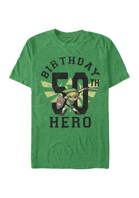 Nintendo Link Birthday 50 Graphic Short Sleeve T-Shirt
