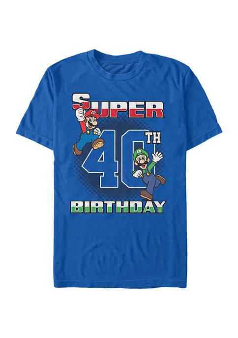 Super Bros 40th BDay Graphic Short Sleeve T-Shirt