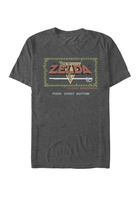 The Legend of Zelda Classic NES Title Screen Short Sleeve Graphic T-Shirt