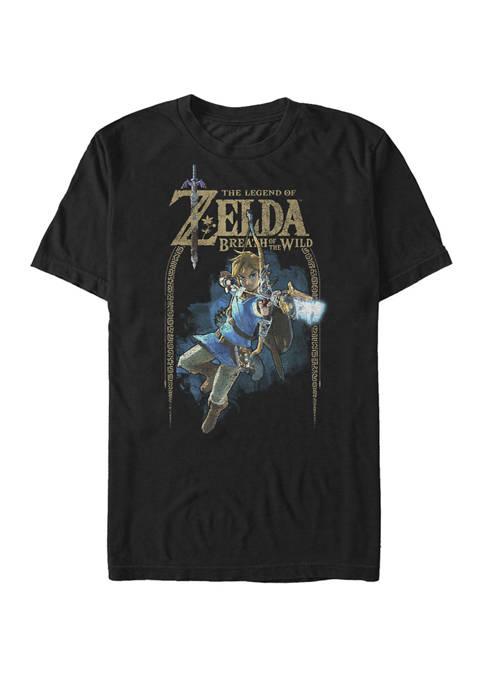 The Legend of Zelda Breath Of The Wild Link Arch Shot Logo Short Sleeve T-Shirt