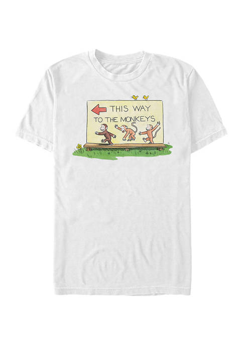 This Way To The Monkeys Graphic T-Shirt