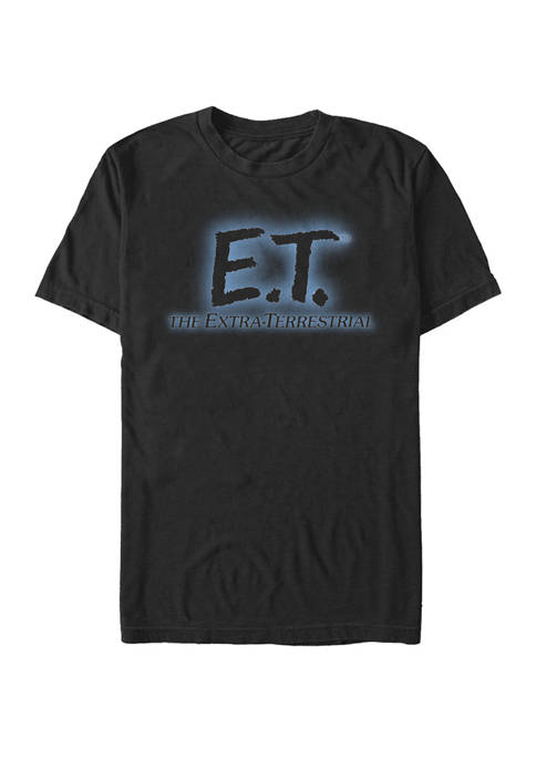 E.T. the Extra-Terrestrial Glowing Movie Logo Short Sleeve